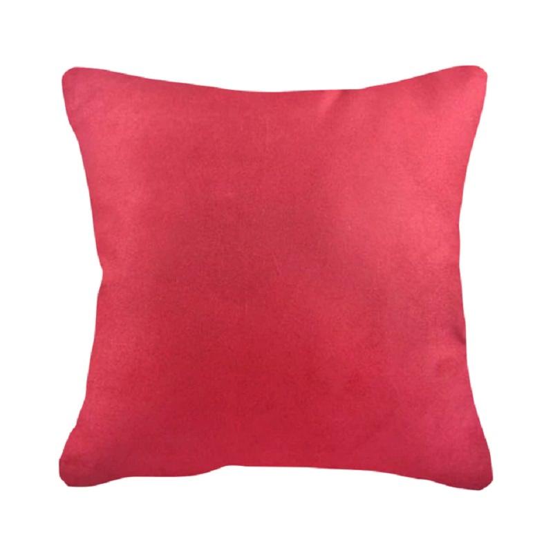 Sleep Buddy Suede Maroon Cushion 45x45cm