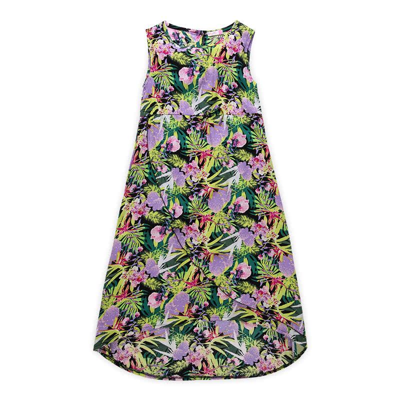 Full Printed Floral Dress Anak Perempuan