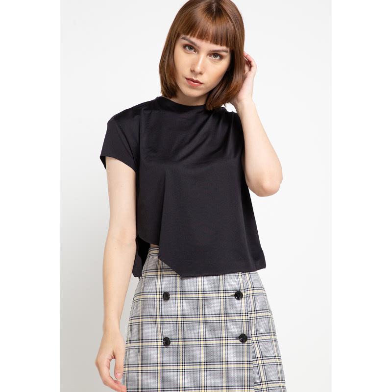Llaces Clothing Victoria Slit Shirt Black
