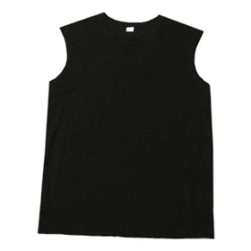 [BL0478]Basic Cutting Box Sleeveless - Black