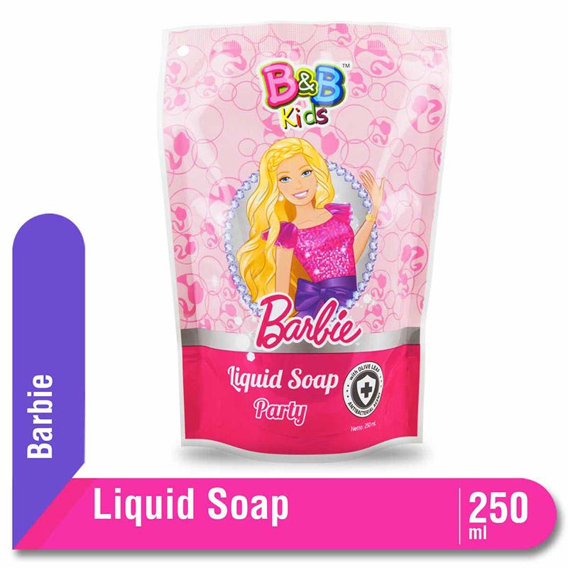 B&B Kids Barbie Liquid Soap Party Pouch 250 Ml