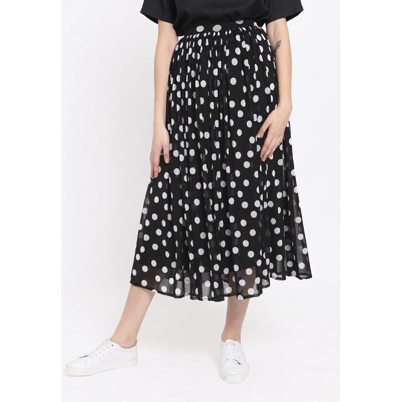 Heart And Feel Polkadot Tulle Skirt Black