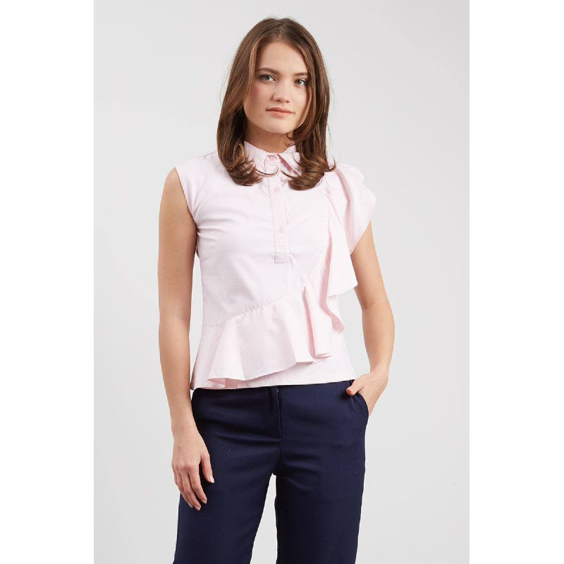 Felicity Pink Frill Top