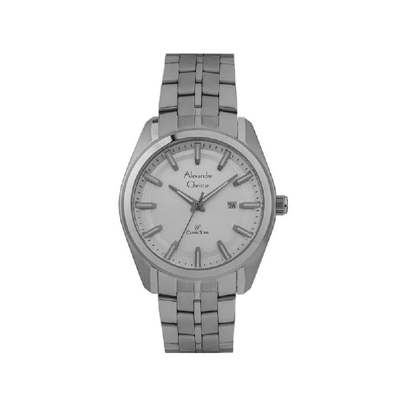 Alexandre Christie AC 8637 MDBSSSL Women Watch Stainless Steel Silver White