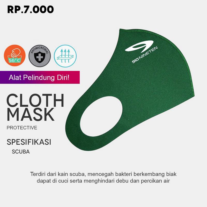 910 Nineten Cloth Mask Protective - Hijau