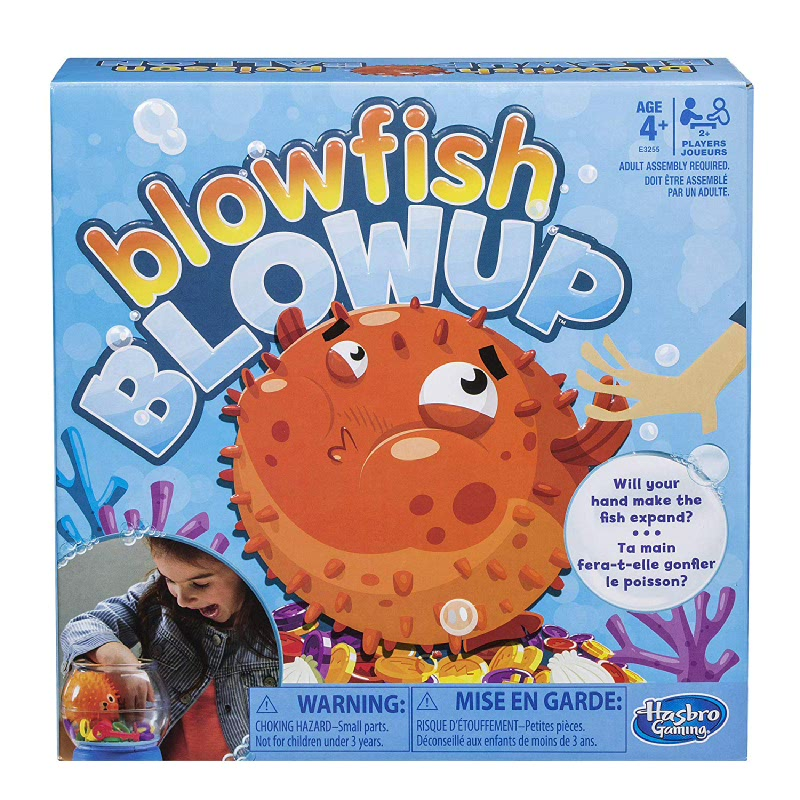 Hasbro Games Blowfish Blowup Game for Kids Ages 4 and Up