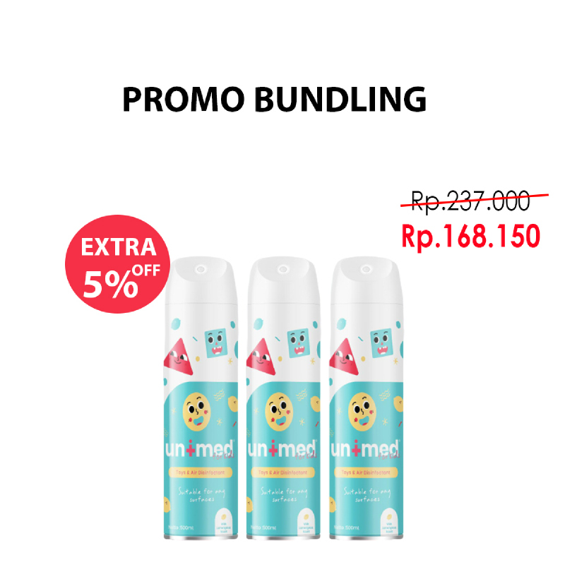 Paket Unimedkids Toys and Air Disinfectant 250ml (3pcs)
