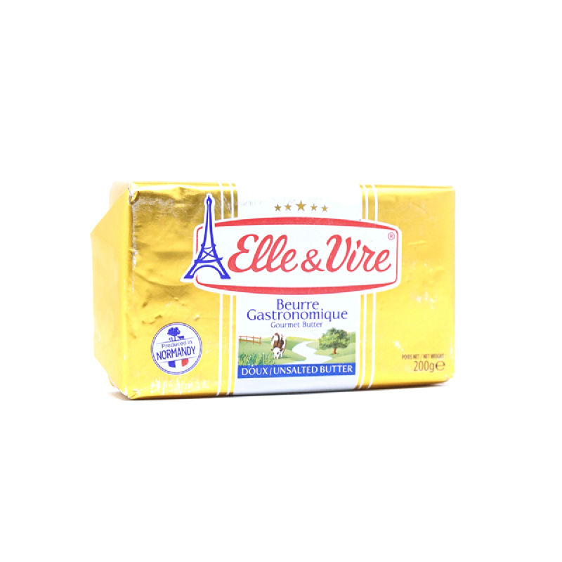 Elle & Vire Butter Packets Unsalted 200G
