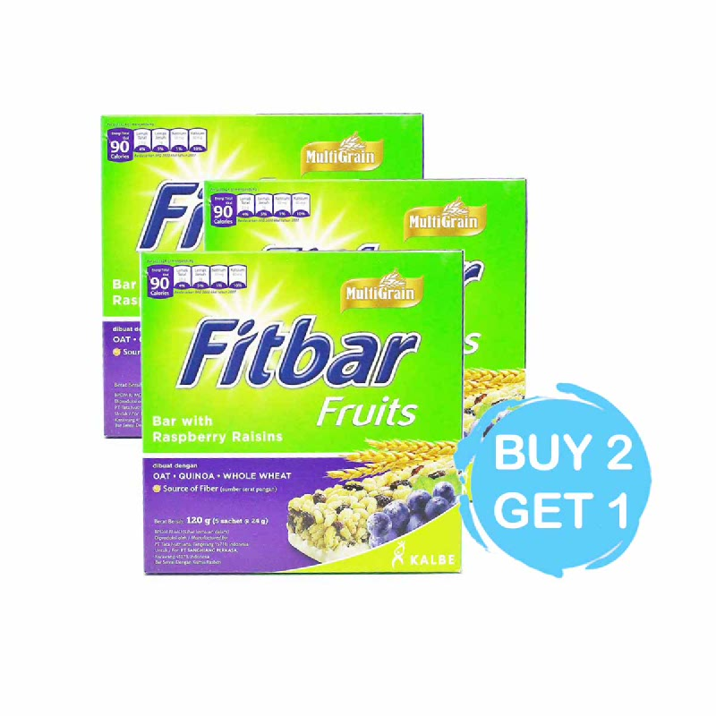 Fitbar Snack Bar Fruits 5 X 24 Gr  (Buy 2 Get 1)