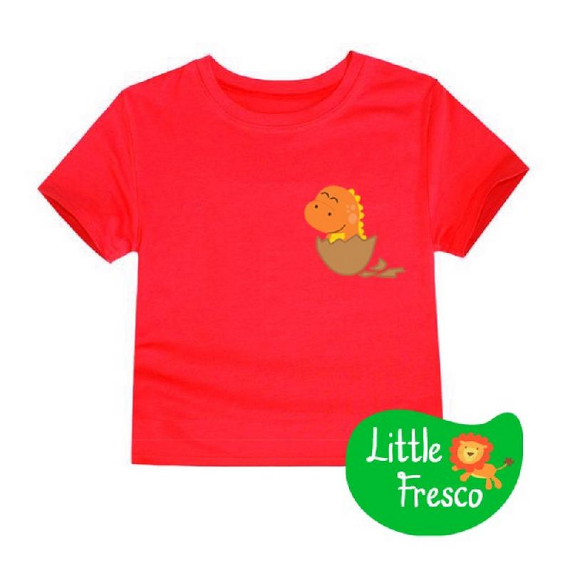 Little Fresco - Kaos Anak Baby Dino Merah
