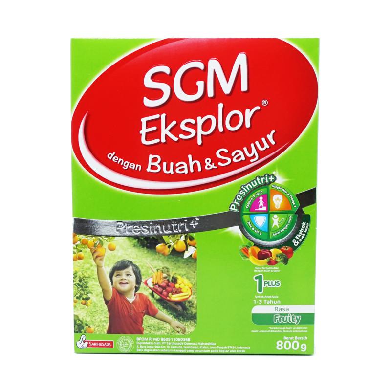 SGM Powder Milk Buah Dan Sayur 1+ Fruity Box 800 Gr