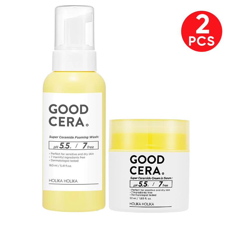 Holika Holika Good Cera Cream In Serum + Super Ceramide Foaming Wash 160ml