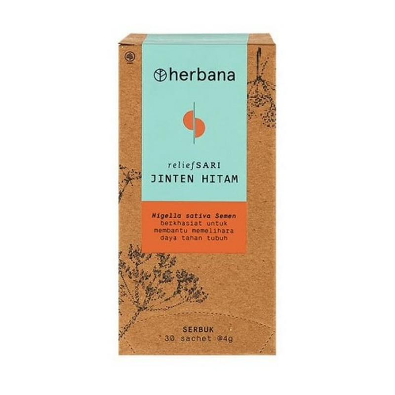Herbana Relief Sari Powder Jinten Hitam 30 x 4 g