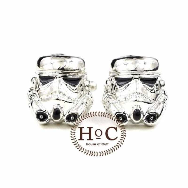 House Of Cuff Cufflinks Manset Kancing Kemeja French Cuff Storm Troopers Silver