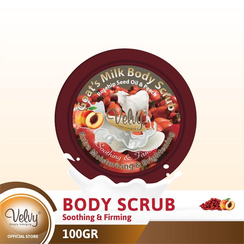 Velvy Gm Body Scrub Rosehip & Peach 100G