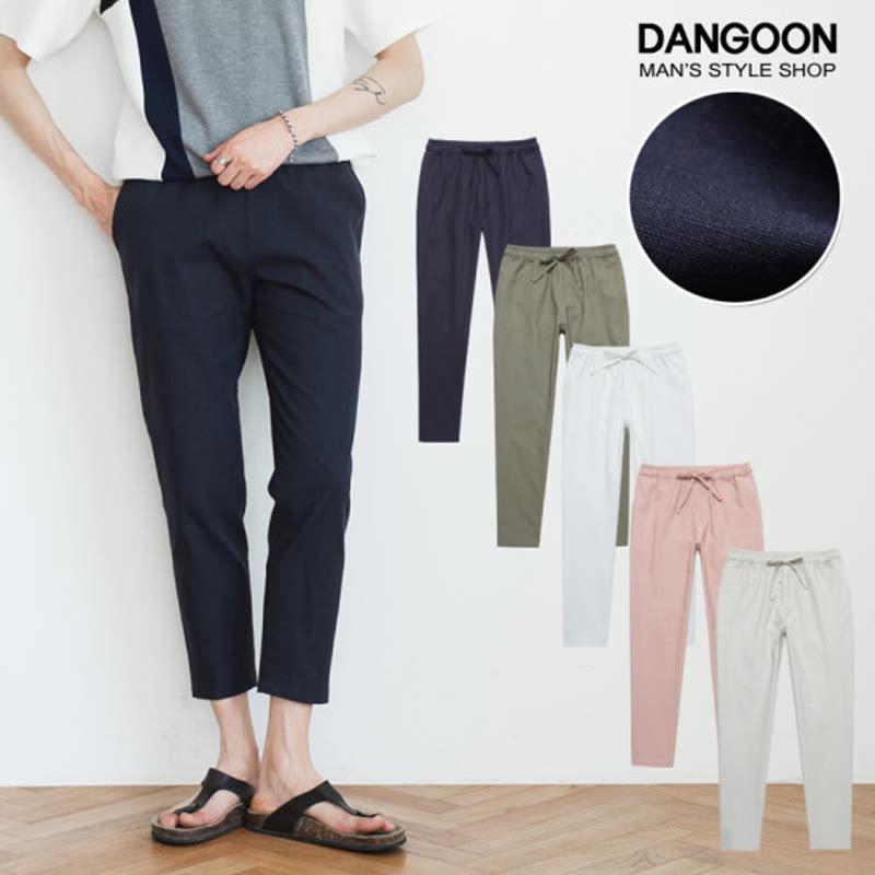 Celana Panjang DANGOON Linen Banding - Dongker 376686238NV