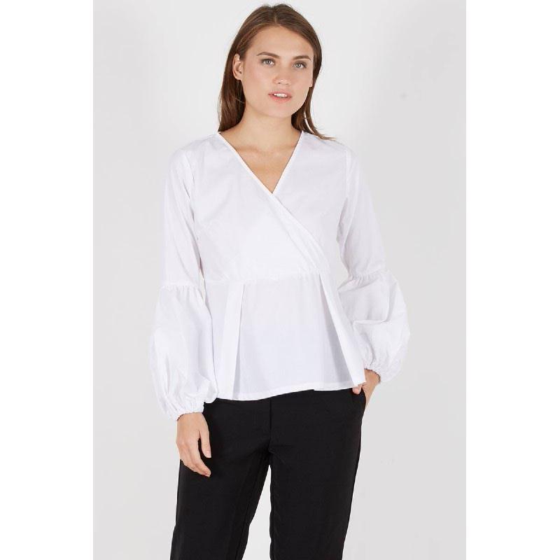 Ruslana Puff Sleeve Top White
