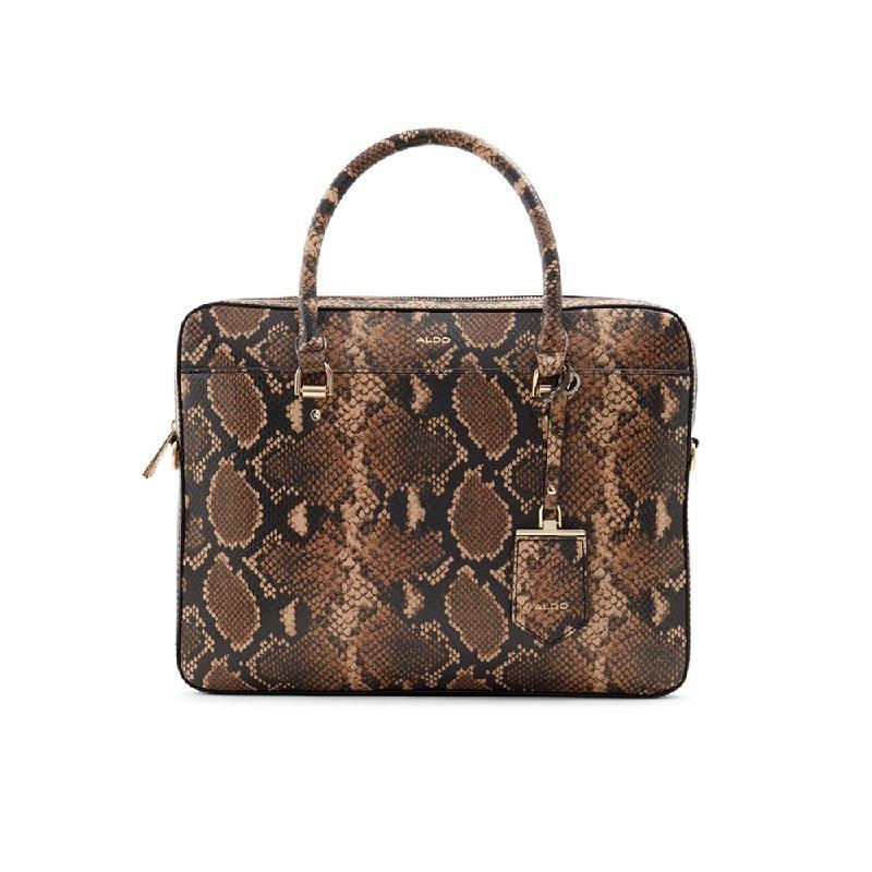Aldo Ladies Briefcase  NORELLIE-210 Medium Brown