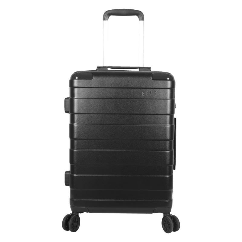 Elle Hardcase Luggage size 25 inch 4 Wheels TSA Lock Anti Theft Black