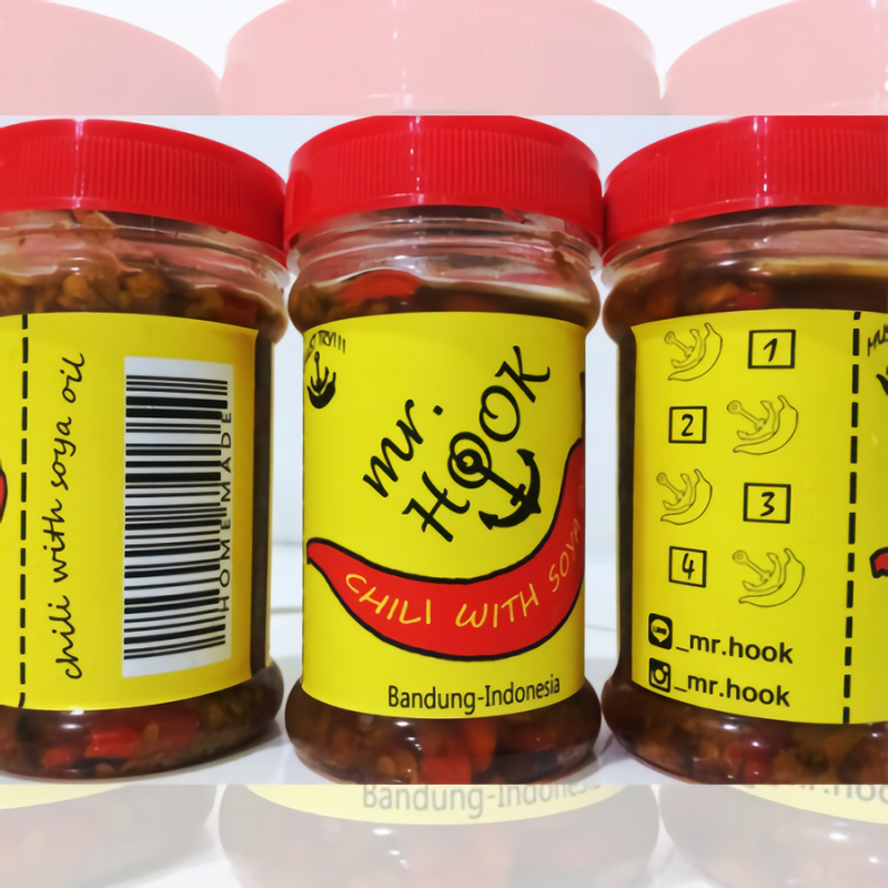SAMBAL MR HOOK (CHILII WITH SOYA OIL) LEVEL3 (2 PACK)