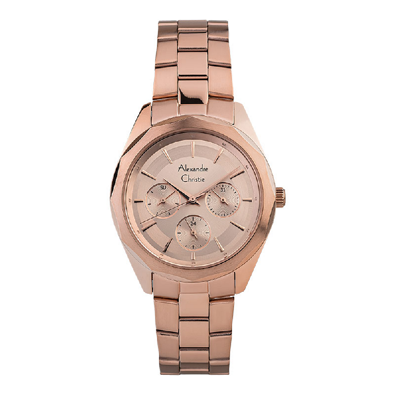 Alexandre Christie AC 2898 BFBRGLNLadies Rose Gold Dial Rose Gold Stainless Steel Strap