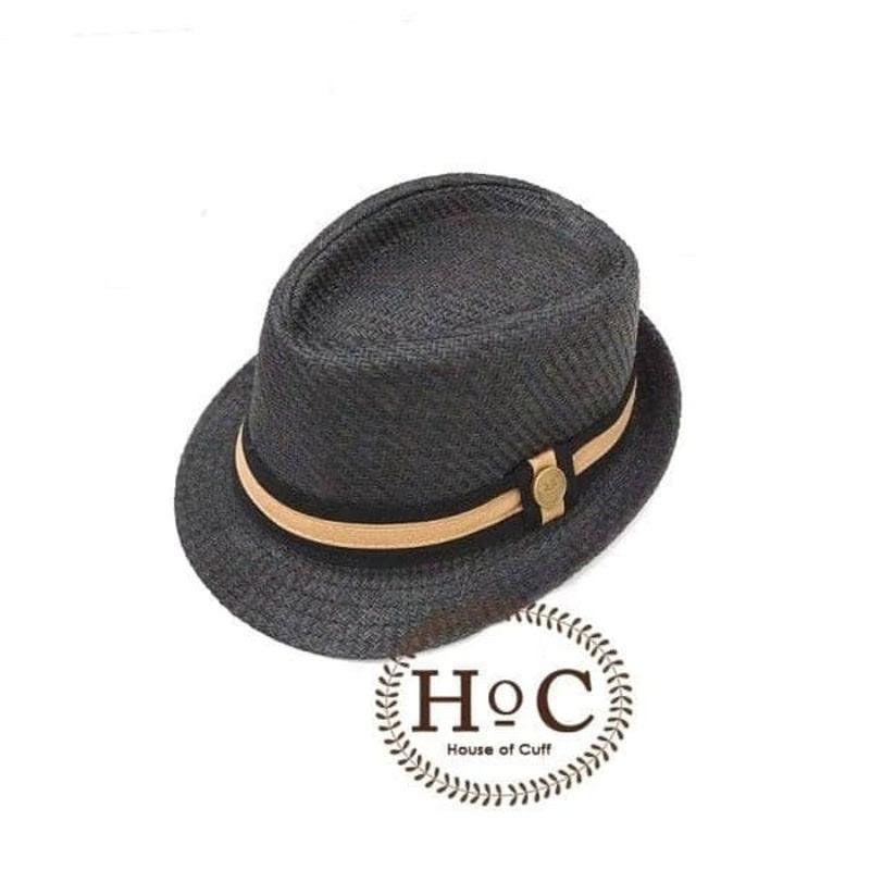 House Of Cuff Topi Fedora Panama Hat Jazz Koboy Hat Topi Pantai Listed Button