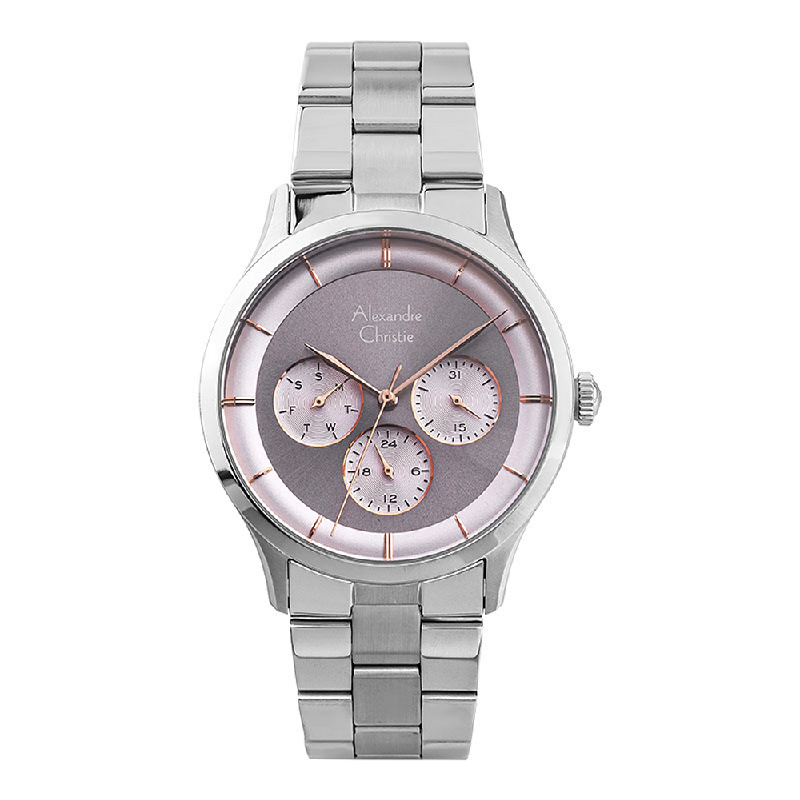 Alexandre Christie AC 2889 BF BSSPU Ladies Grey Dial Stainless Steel Strap