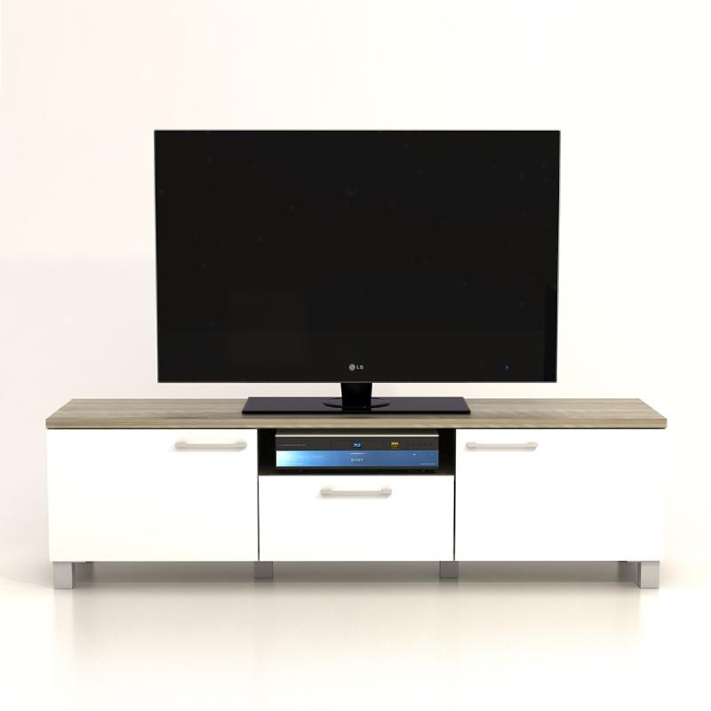 Anya Living Rak TV Pico 3 CF Sonoma Brown - Putih