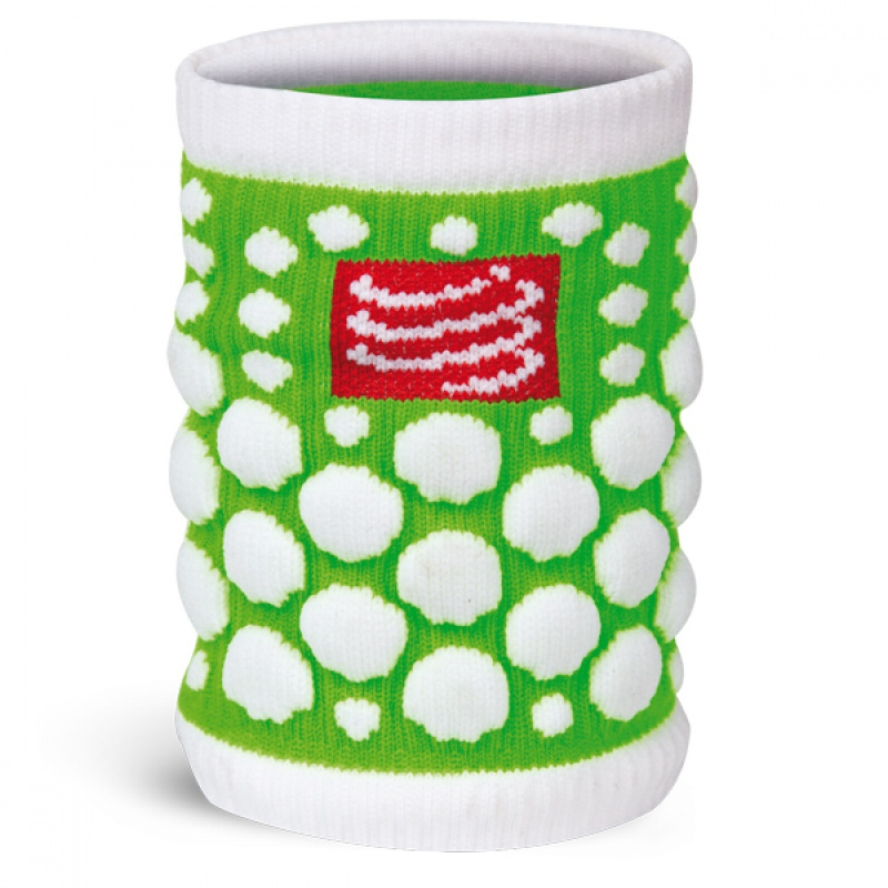 COMPRESSPORT 3D Dot Sweat Band FLUO Green