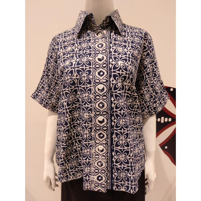 Astari Batik Shirt Navy