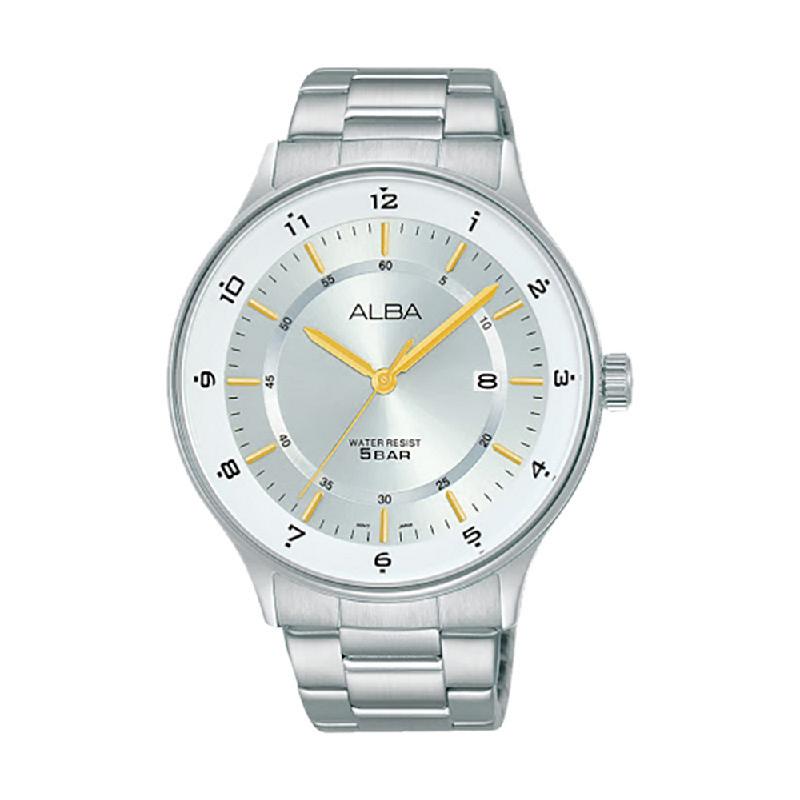 Alba Prestige AS9M15X1 Men Silver Dial Stainless Steel Strap