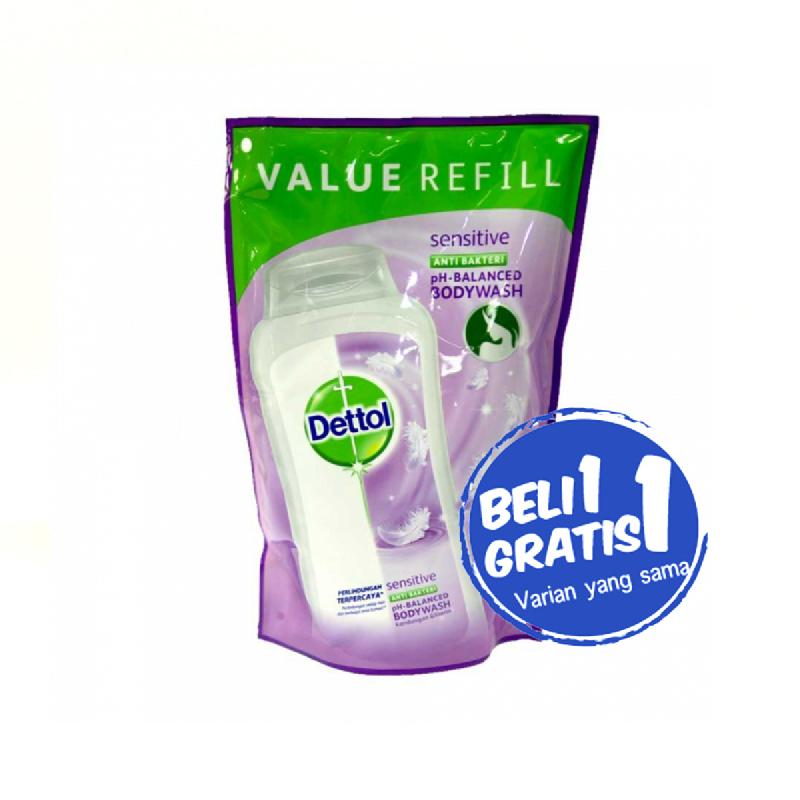 Dettol Shower Foam Sensitive Pouch 450 Ml (Buy 1 Get 1)