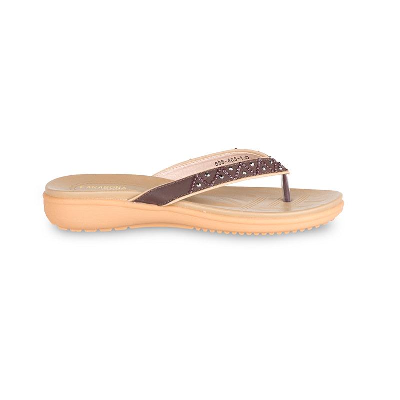 Farabona Thong Sandal Cokelat
