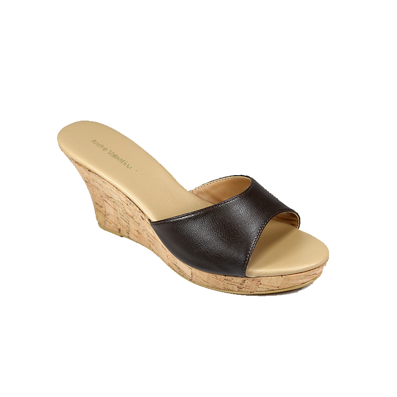 Andre Valentino Wedges Brown