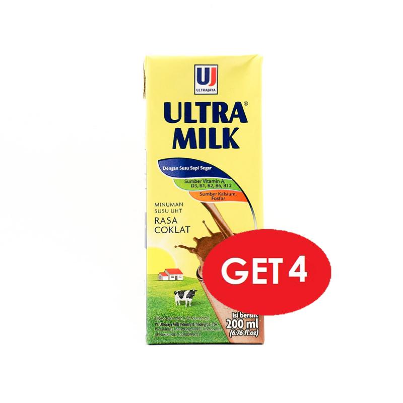 Ultra Milk Chocolate 200 Ml (Get 4 Pcs)