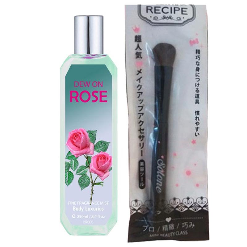 Beaute Recipe Big Brush + Beaute Recipe Dew On Rose Fragrance Mist
