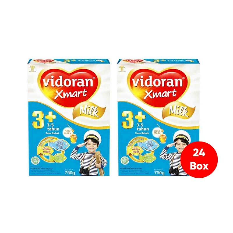 Vidoran Xmart 3+ Nutriplex Madu Box 750Gr (Get 24)