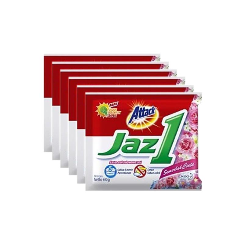 Attack Jaz 1 Semerbak Cinta Powder Detergent 50 gr x 6 pcs