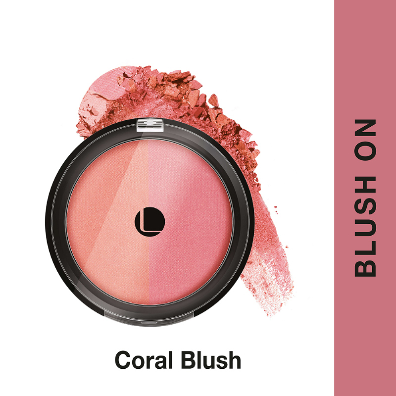 Lakme Absolute Reinvent Face Stylist Blush Duos - Coral Blush