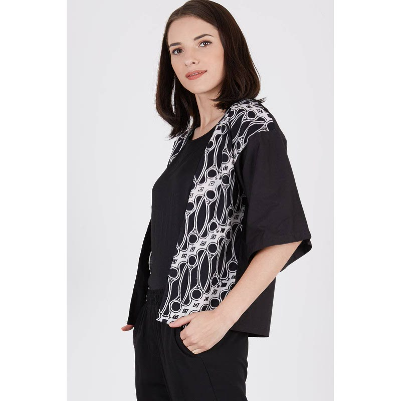 Shree Batik Cardigan Black