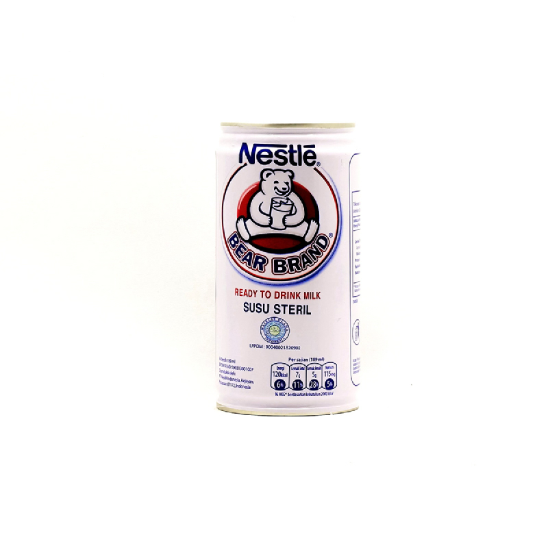 Bear Brand Rtd Milk Tin 189ml
