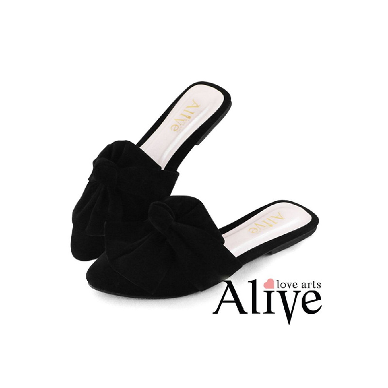 AliveLoveArts Miley Sandals Mules Black