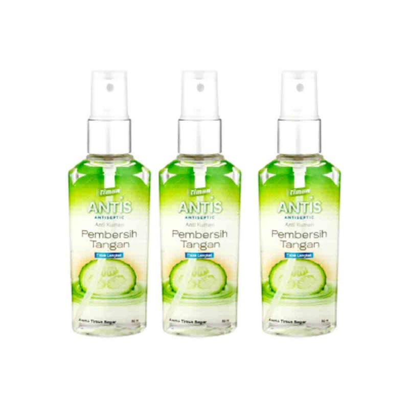 Antis Hand Sanitizer Timun 55 Ml Spray (Buy 2 Get 1)