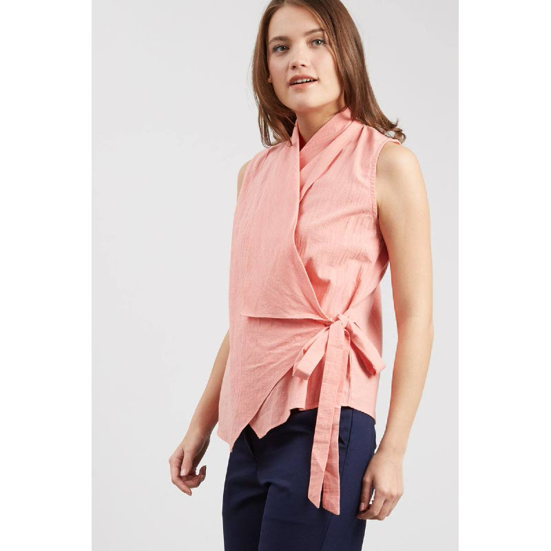 Hillary Pink Wrap Top