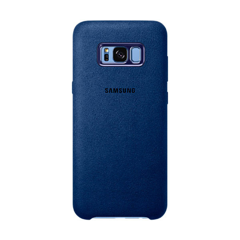 Samsung Alcantara Cover For Galaxy S8+ Biru