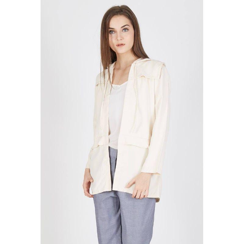 Petulia Frill Coat Khaki