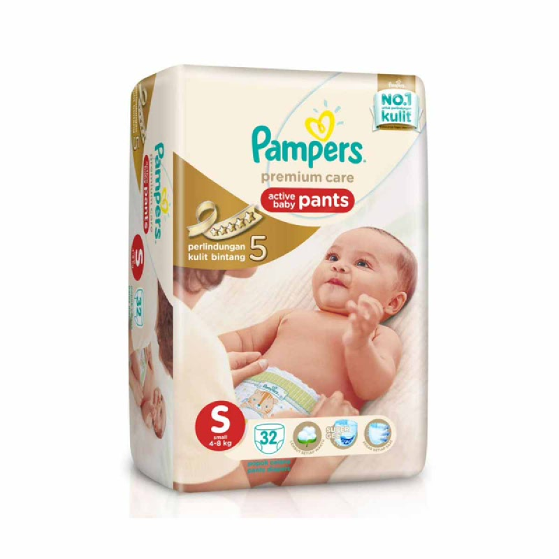 Pampers Premium Active Baby Pants Value S 32