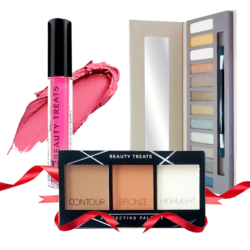 Beauty Treats Naked Eyeshadow No. 01 + Perfecting Pallete No. 01 FREE True Matte Lip Color No. 05