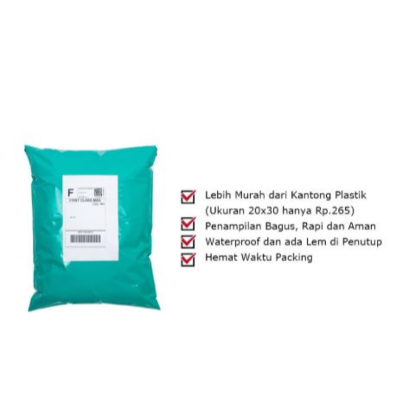 ADDA HOME Polymailer Plastik Packing Online Shop 32x45 Cm Hijau Tua (100pcs)