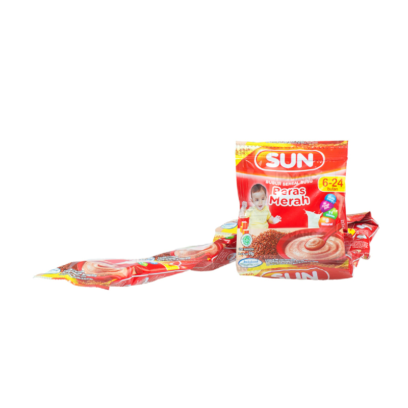 SUN Bubur Sereal Susu Beras Merah Sachet
